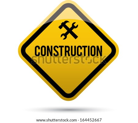 construction sing - stock vector
