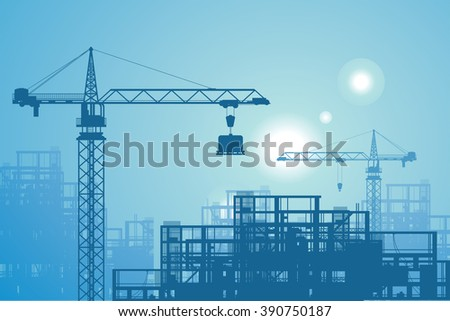 Construction site - stock vector