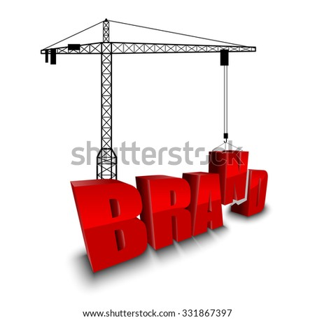 Construction site crane building background. vector - stock vector