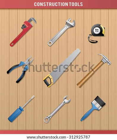 Construction Tools - stock vector