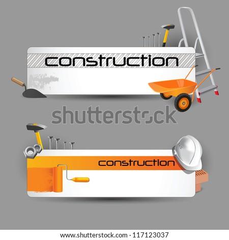 construction web - stock vector