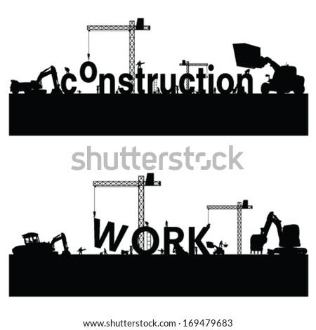 construction work vector illustration - stock vector