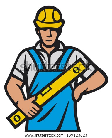 construction worker (construction man, builder man) - stock vector