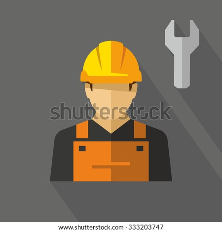 Construction worker Vector  - stock vector