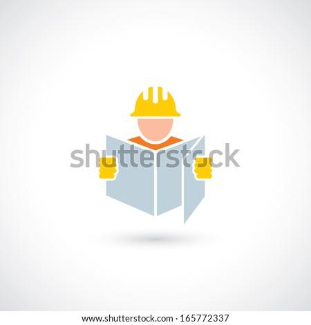 Construction worker - vector illustration - stock vector