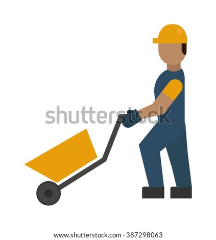 Construction worker vector illustration. Construction worker isolated on white background. Construction worker vector icon illustration. Construction worker isolated vector silhouette - stock vector