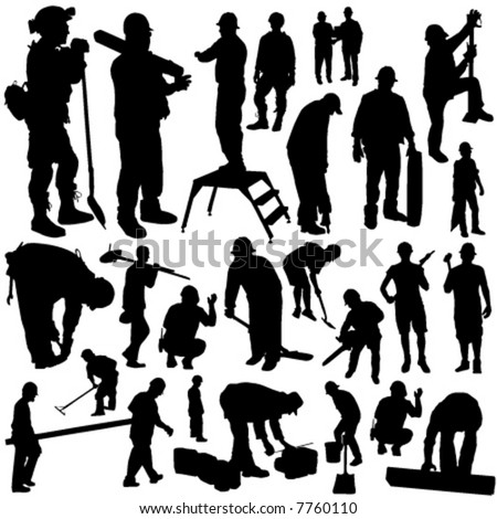 Construction Worker Icon Vector Construction Workers Vector
