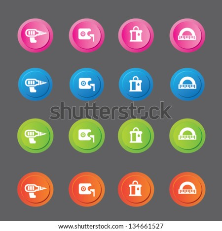 Constructor icons,building icons,vector - stock vector