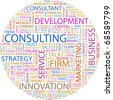 CONSULTING. Word collage on white background. Vector illustration. - stock vector