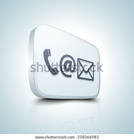 Contact button - stock vector