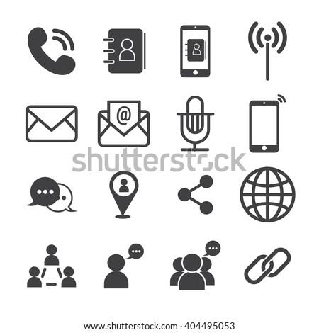 contact icon - stock vector