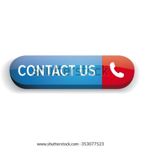 Contact us button vector - stock vector