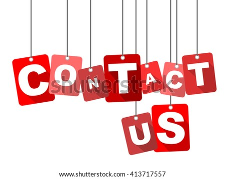 contact us, red vector contact us, red tag contact us, flat vector contact us, sign contact us, design contact us, illustration contact us, background contact us, element contact us, contact us eps10 - stock vector