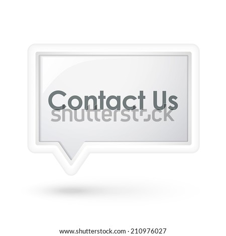 contact us words on a speech bubble over white - stock vector