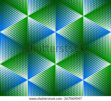 Contemporary abstract endless EPS10 background, three-dimensional vector pattern. Decorative graphic entwine transparent ornament. - stock vector