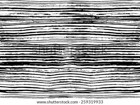 Contemporary art design grunge vector seamless texture for textile design. It was drawn by dry brush. Black and white grungy pattern with large messy stroke elements.  - stock vector