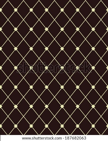 Contemporary brown and beige diamond pattern - stock vector