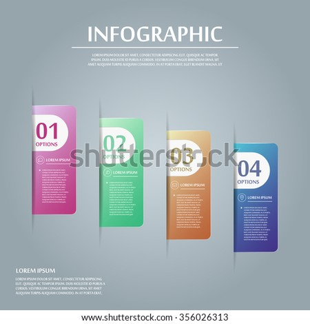 contemporary infographic design with colorful labels elements - stock vector