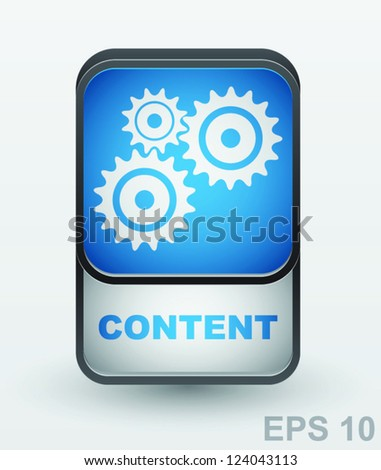 Content button. Vector sign - stock vector