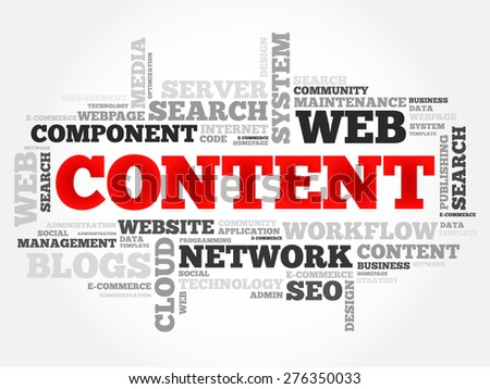 CONTENT word cloud, business concept - stock vector