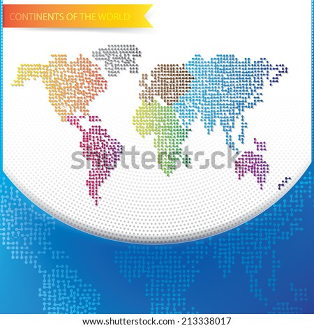 Continent of the Wold cover design - stock vector