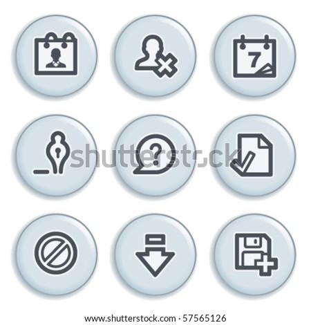 Contour internet icons 2 - stock vector