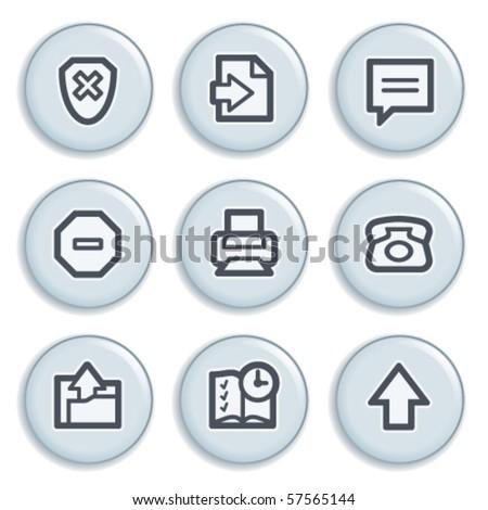 Contour internet icons 4 - stock vector