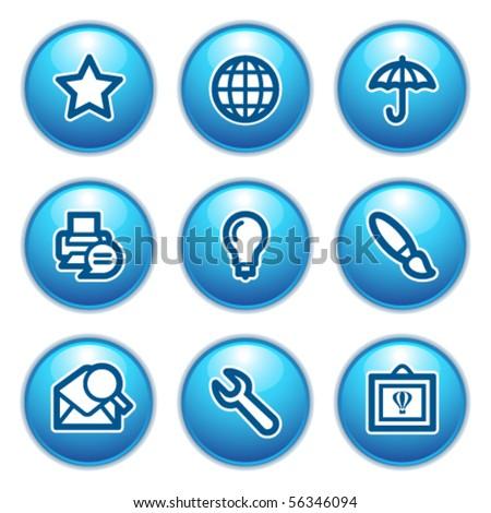 Contour web icons 9 - stock vector