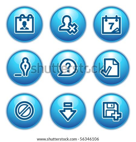 Contour web icons 2 - stock vector