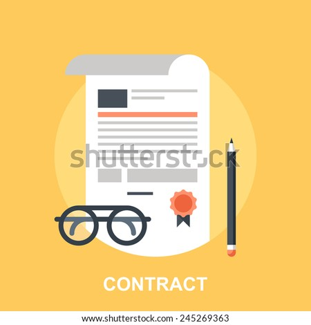 Contract - stock vector