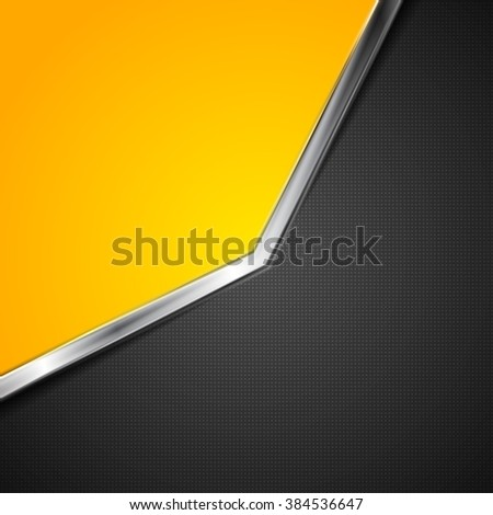 Contrast abstract background with metallic stripe. Vector template design - stock vector
