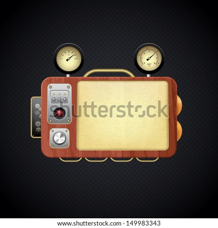 control panel, eps10 - stock vector