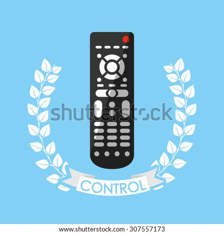 control remote design, vector illustration eps10 graphic  - stock vector