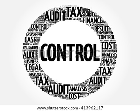 CONTROL word cloud, business concept - stock vector
