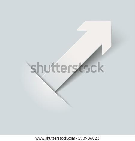 Convert arrow on the grey background. Eps 10 vector file. - stock vector