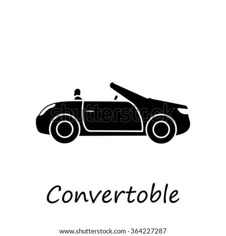 Convertible  Car icon vector for web site - stock vector