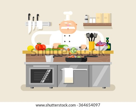 Cook character man - stock vector