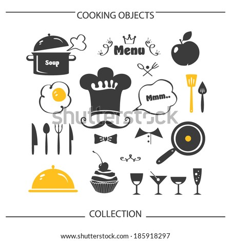 Cooking objects collection - stock vector