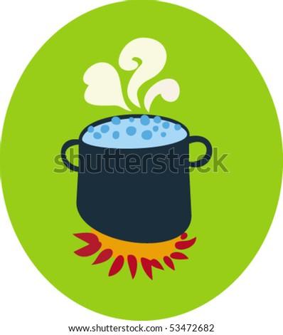 Cooking Pot - stock vector
