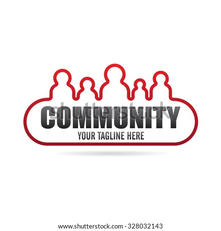 Cool Community Icon Logo - stock vector