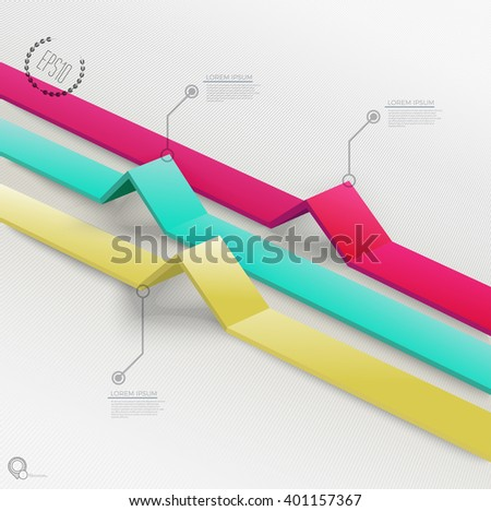 Cool Info Chart Base for Your Portfolio - stock vector