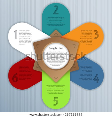 Cool infographic design with options and related text - stock vector