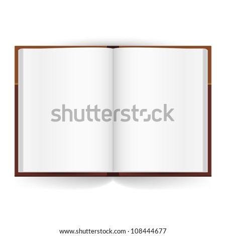 Cool Open book with white pages. Illustration on white - stock vector