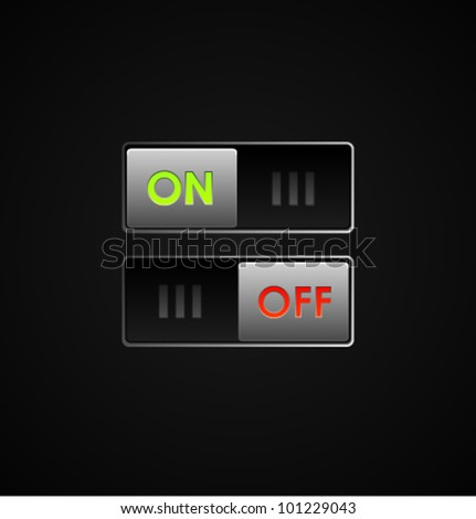 Cool Switch - stock vector