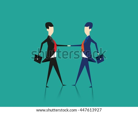 Cooperation. Concept business illustration. Vector flat - stock vector