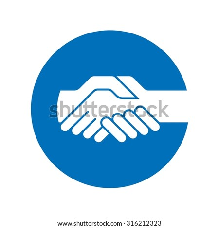 cooperation logo. - stock vector