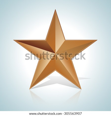 Copper Star - stock vector