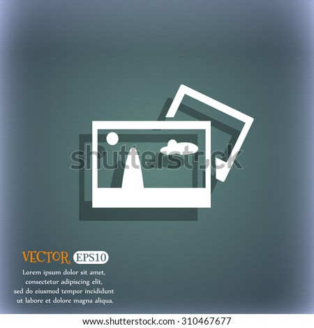 Copy File JPG sign icon. Download image file symbol. On the blue-green abstract background with shadow and space for your text. Vector illustration - stock vector