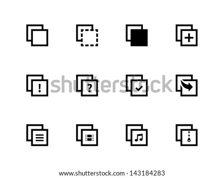 Copy Paste Icons for Apps, Presentations, Web Pages. Vector illustration. - stock vector