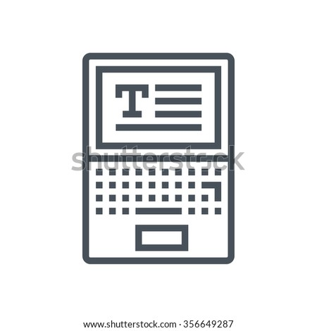 Copy writing icon suitable for info graphics, websites and print media and  interfaces. Line vector icon. - stock vector